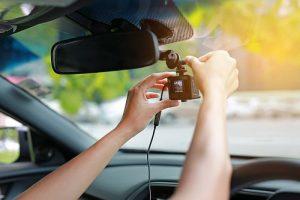 Câmeras de segurança no carro